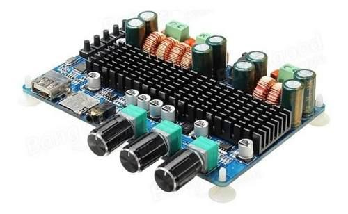 Amplificador Bluetooth 2.1 Canales 50 W X 2 + 100 Watts