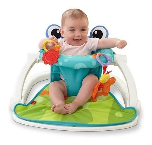 Asiento Portátil De Piso Para Bebé Fisher P Sit Me Up Rana