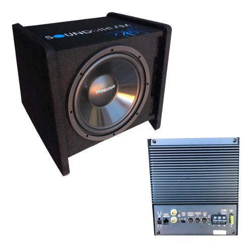 Cajón Woofer 12 Amplificador Soundstream Abx-112 1500w Max