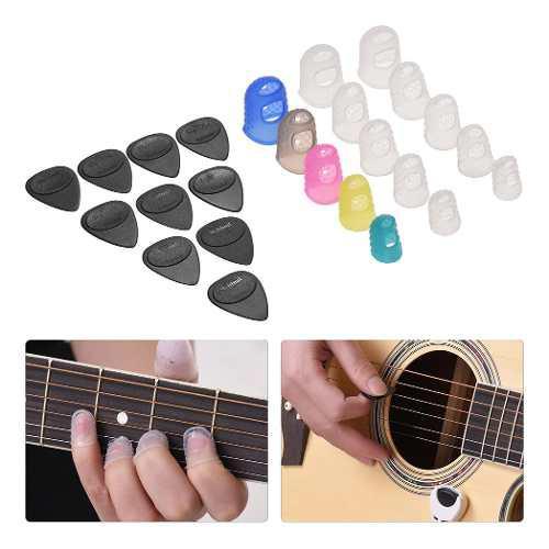El Kit De Accesorios De Guitarra Incluye 15 Dedos De Silicon