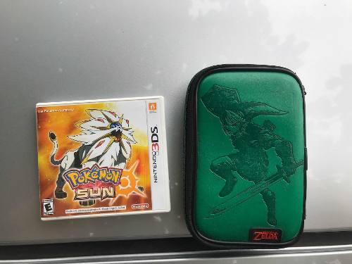 Juego Pokemon Sun Mas Estuche Para Nintendo Ds