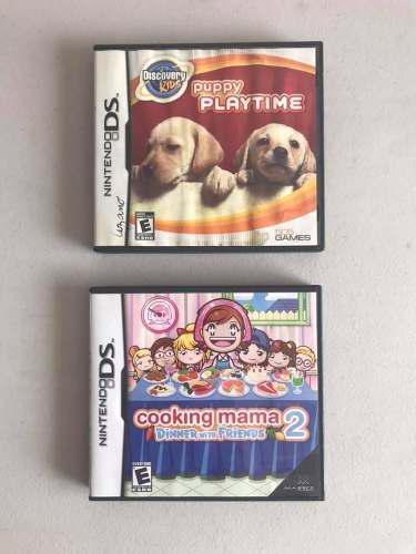Juegos Nintendo 3ds Puppy Playtime Y Cooking Mama 2