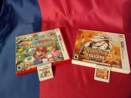 Par De Juegos 3ds Pokémon Sun Y Mario Party Star Rush Semi