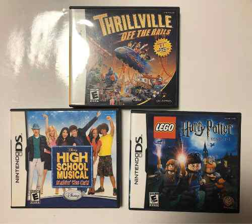 Set De 3 Juegos Para Nintendo Ds Harry P, Thrillville, Hsm