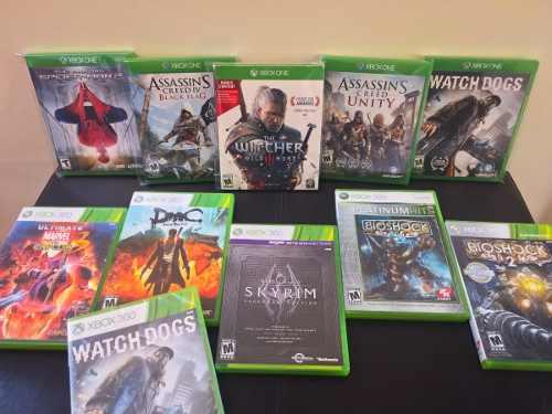 Colección De Juegos Para Xbox One Y Xbox 360