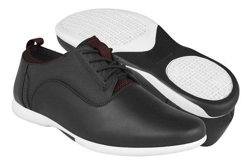 Zapatos Casuales Stylo Para Hombre Simipiel Negro