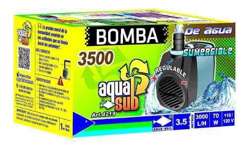 Bomba De Agua Sumergible 3.5m Fuente Muro Estanque 4219