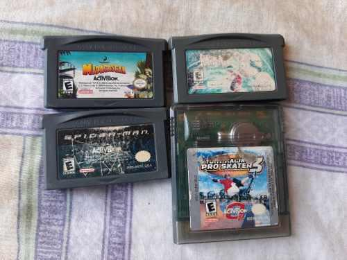 Lote De Juegos De Game Boy Advance Gba Rayman, Spiderman Etc