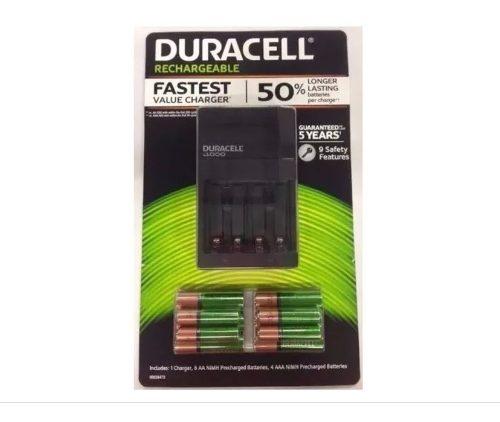 Baterias Recargables Duracell Cargador + 6 Pilas Aa + 2 Aaa
