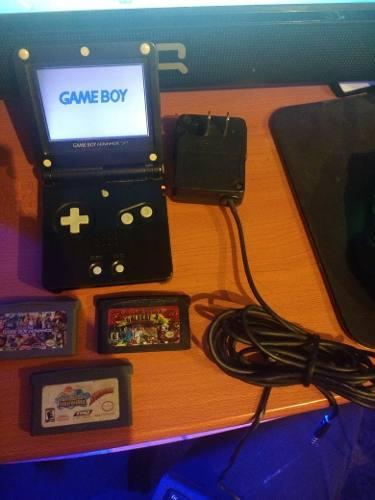 Game Boy Advance Sp Con Cargador Original Y 3 Juegos