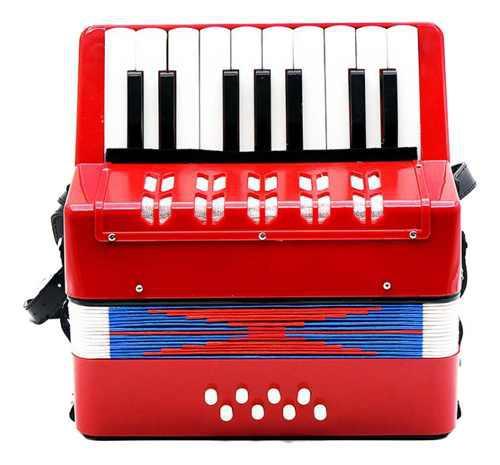 Niños Acordeón 17 Teclas 8 Bajo Musical Instrumento