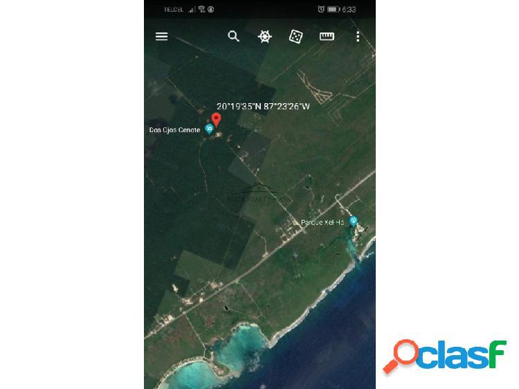Terreno en venta entre tulum y playa del carmen