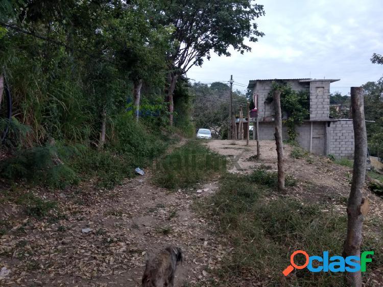 Venta terreno 416 m² Col. Santiago de la peña Tuxpan