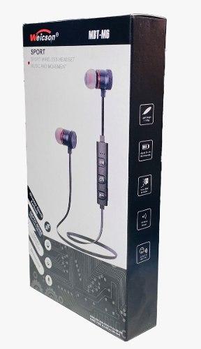 Audífonos Manos Libres Bluetooth Sport Magneticos Weicson
