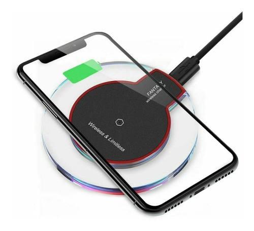Cargador Inalambrico Qi Para Galaxy S8 S9 iPhone 8 X Xs Y