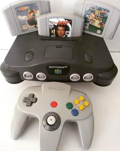 Nintendo 64 Videojuego Consola Con Mario,007, Garantía