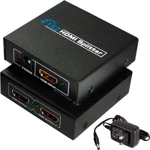 Splitter Hdmi 1*2 Divisor De Señal Amplificador Conecta 2