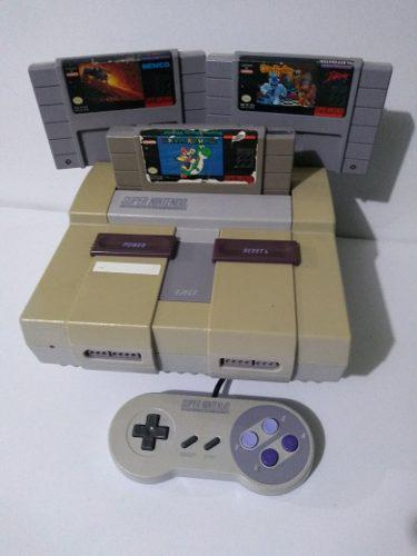 Super Nintendo Snes Videojuego Consola Con Mario