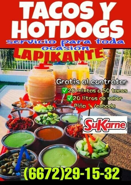 tacos para eventos y hotdgos para fiestas en culiacan