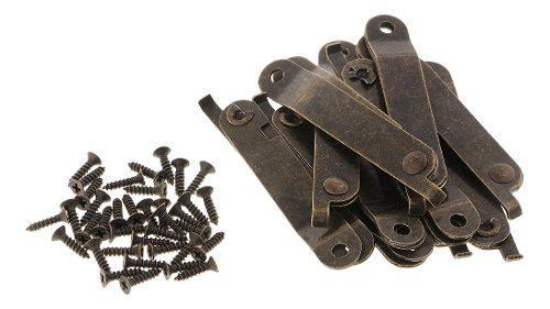 10 Piezas Bisagra Plegable De Caja De Metal De Tono Bronce