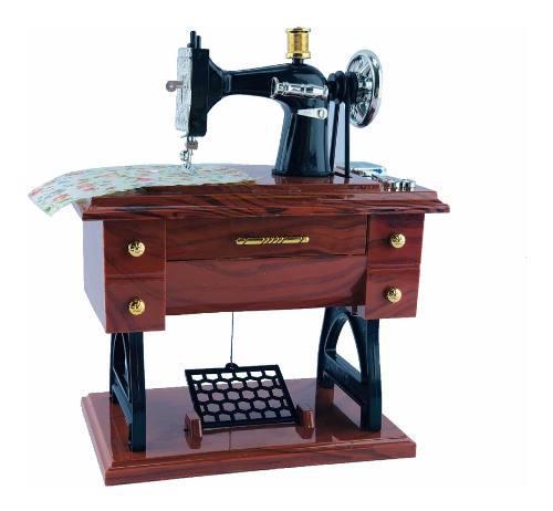 Alhajero Caja Musical Máquina De Coser Vintage Regalo