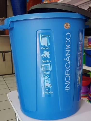 Cesto, Bote De Basura 55 Lts Azul Codigo Inorganico