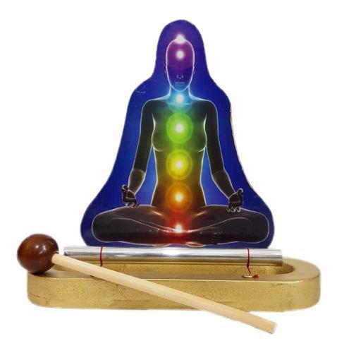 Diapasón Campana De Sanación 7 Chakras Armonizador Buda