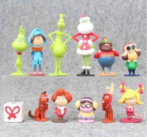 El Grinch Set 12pz Figuras + Envio Gratis