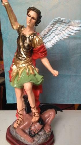 Figura San Miguel Arcangel En Resina 40cm Mayoreo Y Menudeo