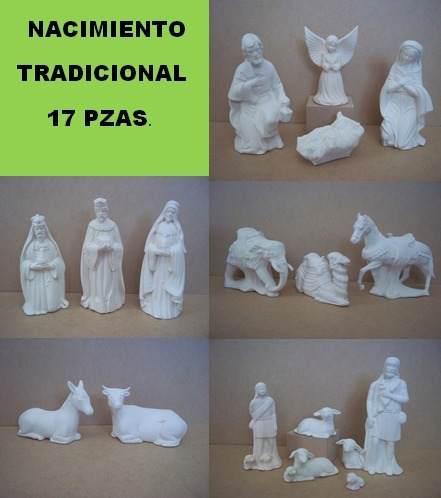 Nacimiento Tradicional De Ceramica Para Pintar 17 Piezas