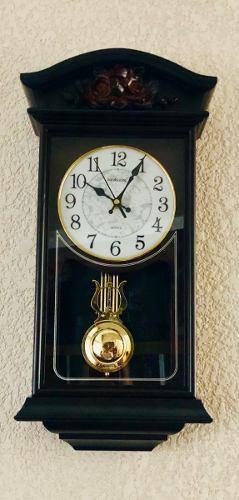 Reloj De Pared Péndulo Dorado 52 Cm Sonido Mod 1