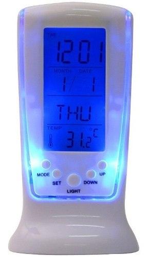 Reloj Despertador Luz Led Digital Termometro Ambiental
