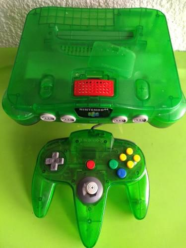 Consola Nintendo 64 Verde Jungle Green Transparente