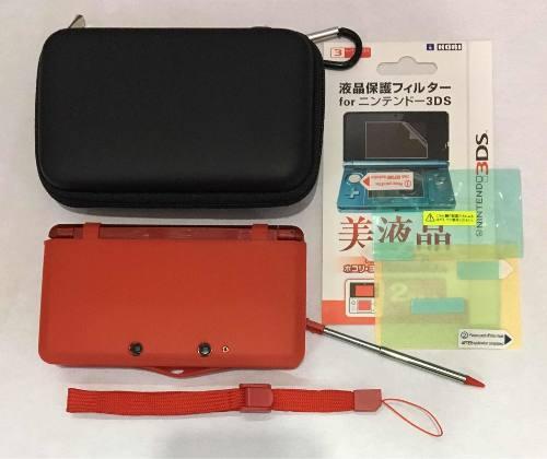 Paquete Basico Estuche Funda Silicon Mica Nintendo 3ds Old