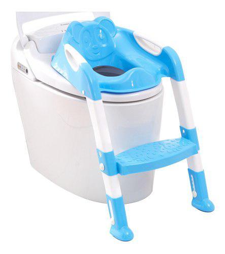 Asiento Escalon Para Bebe Entrenador De Baño Azul B1012