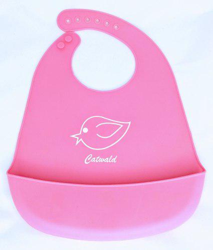 Baberos De Silicona Plásticos Para Bebes Tonos A Elegir