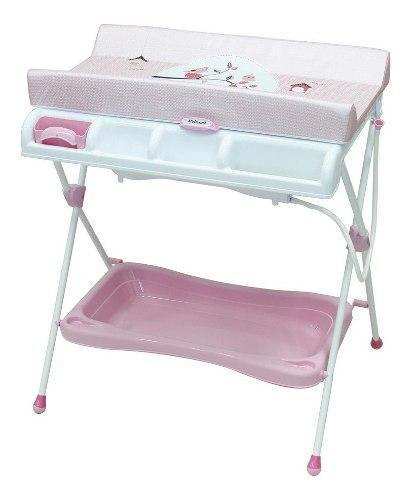Bañera Cambiador Para Bebe Milan Gatos Azul Prinsel Envio