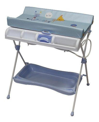 Bañera Con Cambiador Para Bebe Milan Azul Prinsel Msi