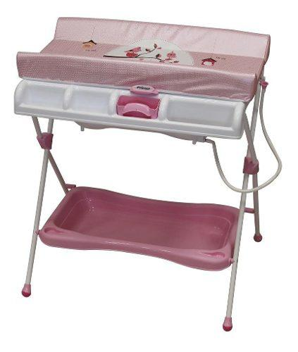 Bañera Con Cambiador Para Bebe Milan Rosa Prinsel Msi Envio