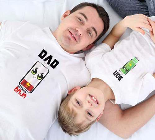 Duo Playera O Pañalero Papá E Hijo Algodón C Envio