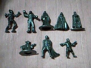 Star Wars - Coleccion Completa 8 Figuras Metalicas Miniatura