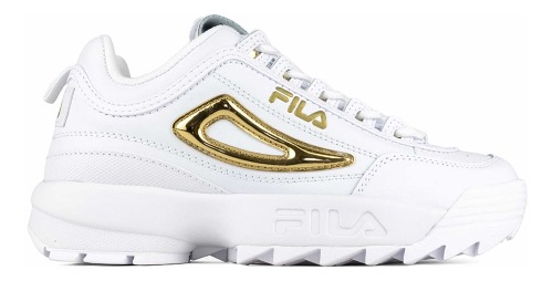 Tenis Fila Disruptor 2 Metallic Accent Blanco 5fm