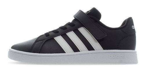 Tenis adidas Grand Court C - Ef0108 - Negro - Niños