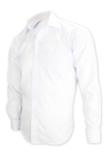 1 Camisa De Caballero De Vestir Lisa Marca Baccus Manga Lar