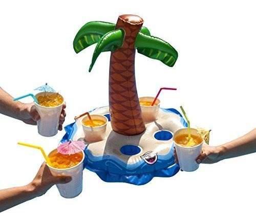 Bigmouth Inc Inflable Palm Tree Multi Bebida Float