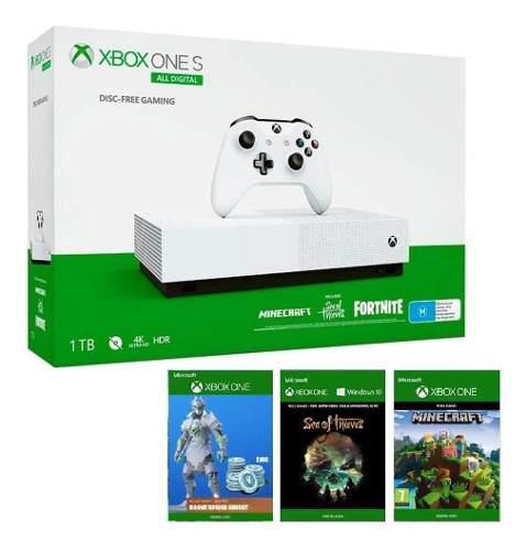 Consola Xbox One S 1tb Edición All-digital Con 3 Juegos