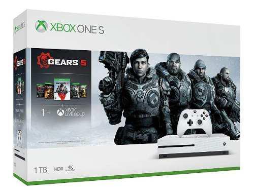 Consola Xbox One S 1tb Gears 5 Gow 1 2 3 4 + Live /u