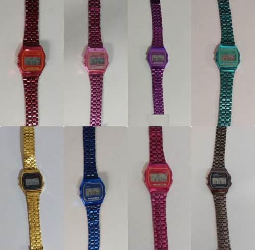 Reloj Metal Wr Vintage Unisex 9 Colores Mayoreo