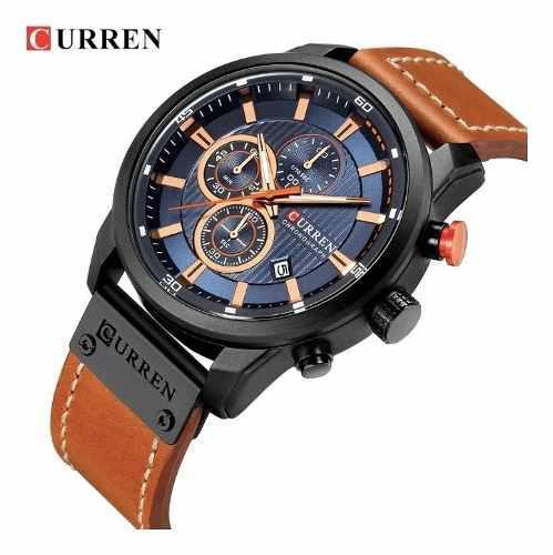 Reloj Original Marca Curren De Acero Inoxidable Y Cronometro
