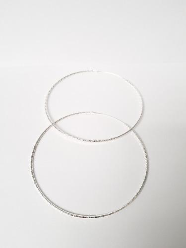 Arracadas De 9 Cm De Plata Diamantadas Y Envio Gratis